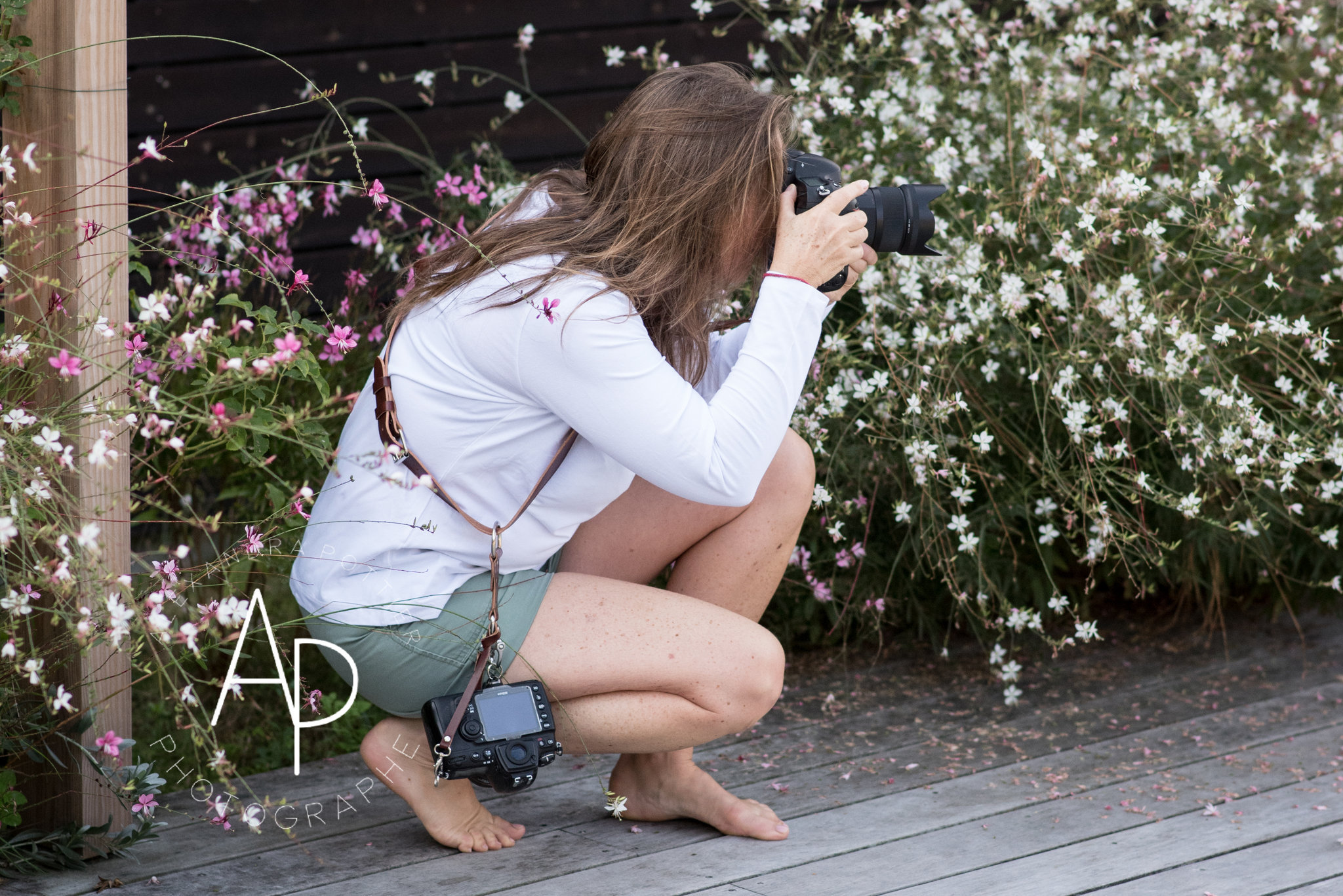 Harnais cuir photographe pour porter camera et boitiers de façon facile