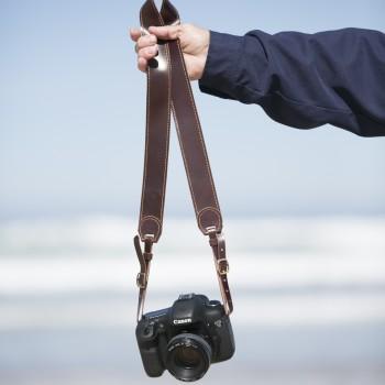 correa cuero cámara fotos