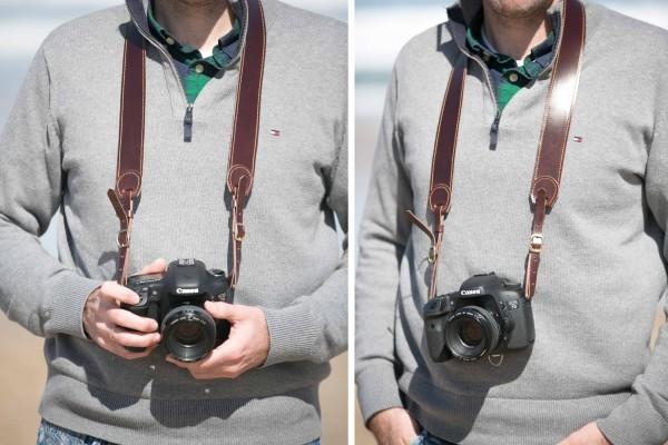 correas en cuero para cámaras fotográficas