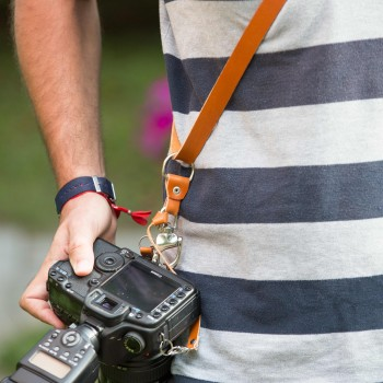 arnés simple cuero cámara