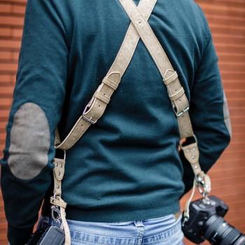 Arnés en corcho ecológico para fotógrafos veganos